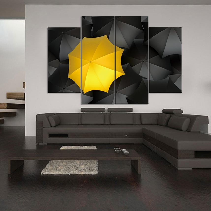 fe6caf0c9 2019 Let It Rain We Have Yellow Umbrellas And Black Umbrellas Frameless  Paintings Print Painting From Harlyx, $14.08 | DHgate.Com