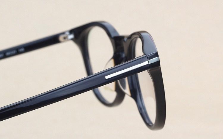Clásico Retro Lente transparente Marcos ópticos Gafas Diseñador de la marca Hombres Mujeres Anteojos 6123 Vintage Plank Gafas Miopía Marco de gafas