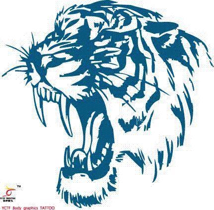 Temporary Tattoos Large Tiger Head Arm Fake Transfer Tattoo Stickers