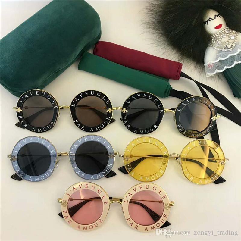 Новое высокое качество 0113 женские солнцезащитные очки женщин солнцезащитные очки 0113S круглые солнцезащитные очки Gafas де золь Mujer люнета солнцезащитных очков