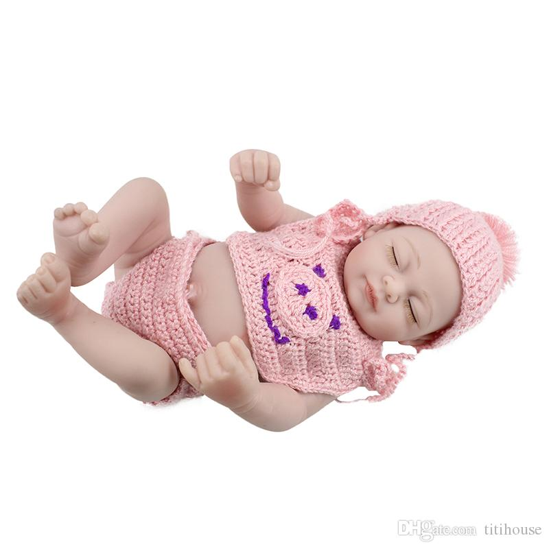 10 Inch Silicone Reborn Girl Dolls Lifelike Reborn Baby Doll Collectible Baby Dolls For Girls Boy Realistic Baby Toys