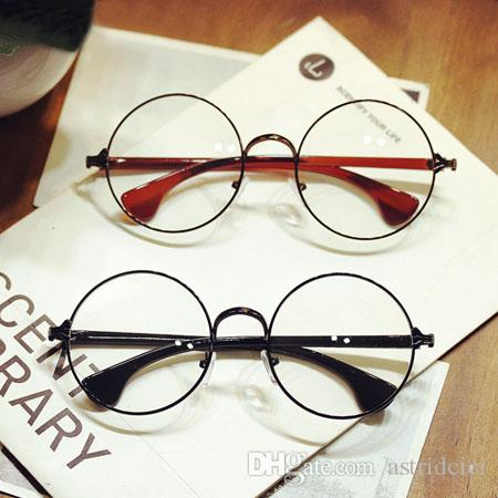 dffe850bf Womens Mens Retro Round Metal Frame Clear Lens Glasses Nerd ...