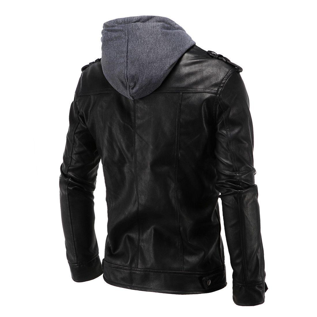4XL толстовка Куртка для мужчин THOOO Марка мужская осень искусственная кожа куртки искусственная кожа бизнес пиджаки Slim Fit мотоцикл мужчины куртка J161017