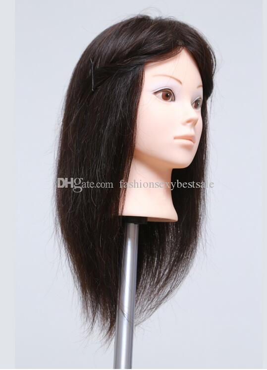 "wholesale Free delivery! 14 ""human training makeup practice head hat display hairdressing mannequins wig ,can be cut fine,color 2114,M00608"