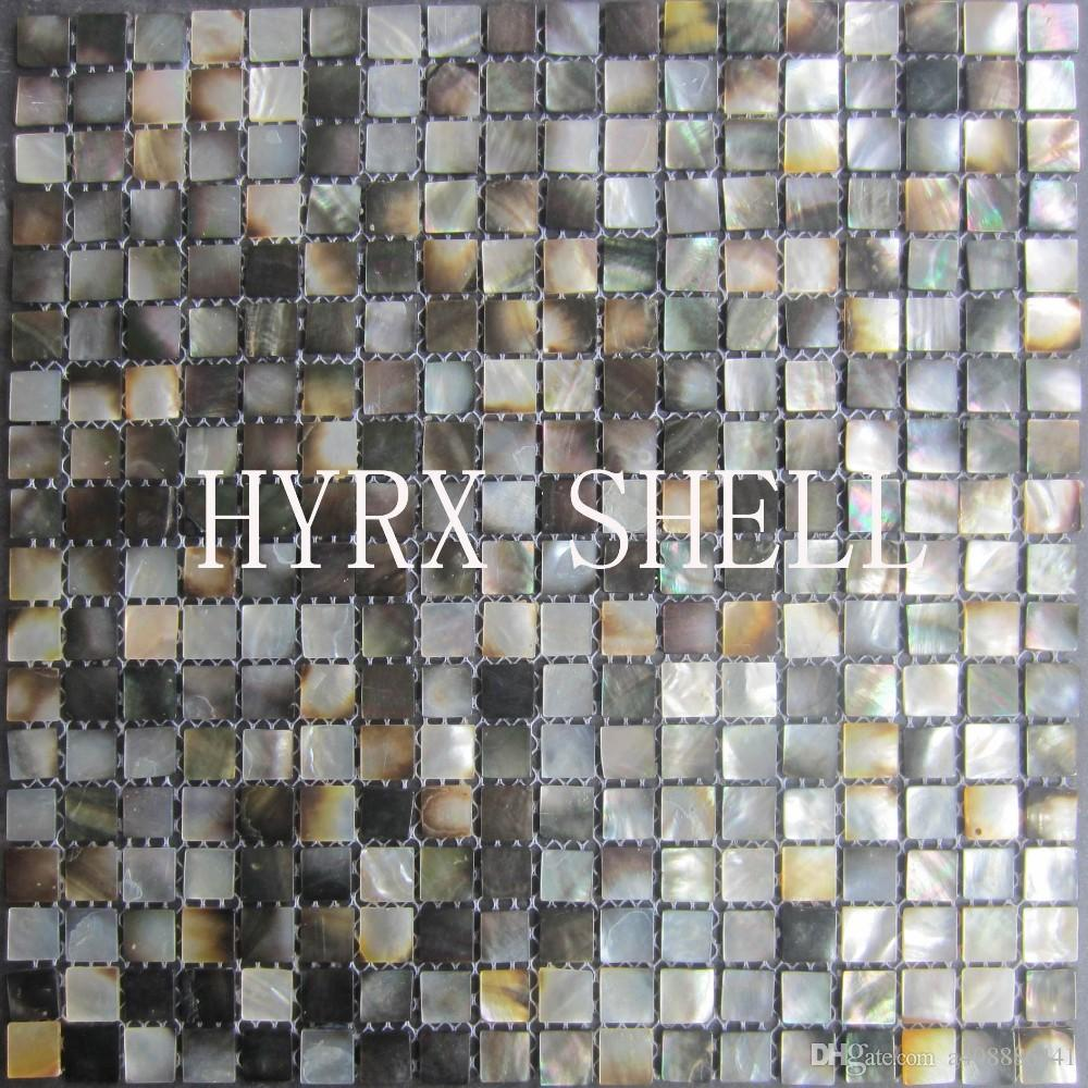 2019 Natural Black Mother Of Pearl Mosaic Tileskitchen Backsplash