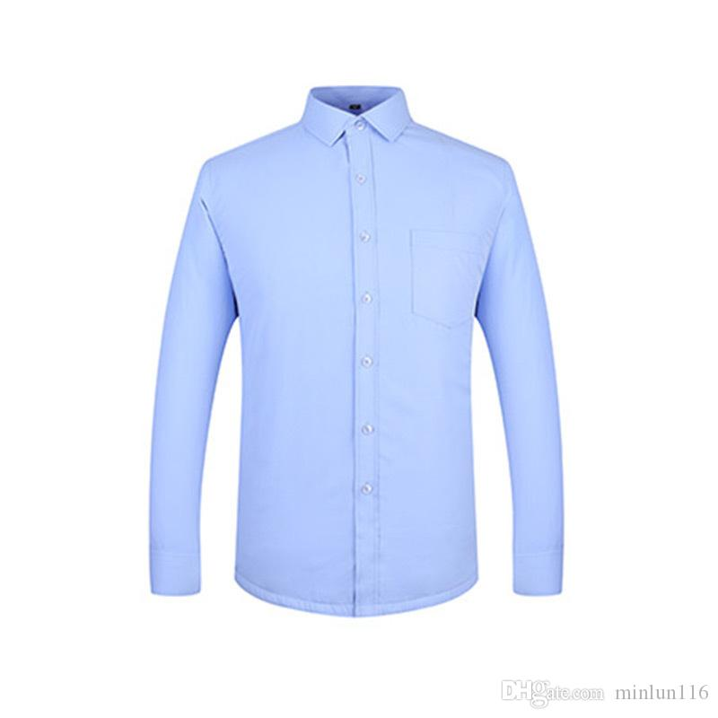 2016 Men Business Shirt Chemise Sleeve Homme Fashion Long 2018 Ydpq6Y