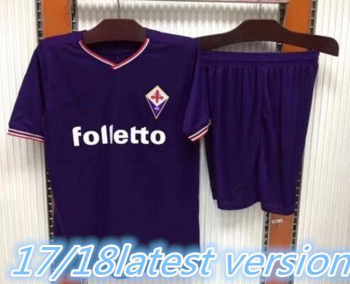 6f5fc2aff ... 2017 florence home purple soccer jersey kits acf fiorentina football  clothes m.gomez bernardeschi bl