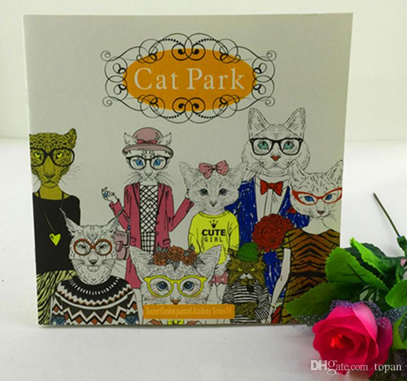 2016 Hottest New Cat Park Secret Garden Series Adult Coloring Books Fantasy Dream Time Travel Bird Magic Mirror Drawing DHL Free