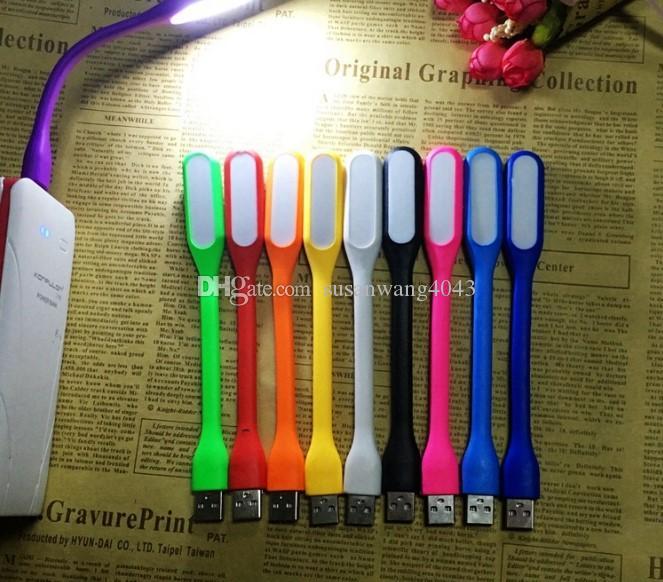 Luzes LED USB Lâmpada Doce Cor Flexível Mini LED Luz Para Tablet PC Power Notebook banco de potência USB luz Ao Ar Livre GSZ250