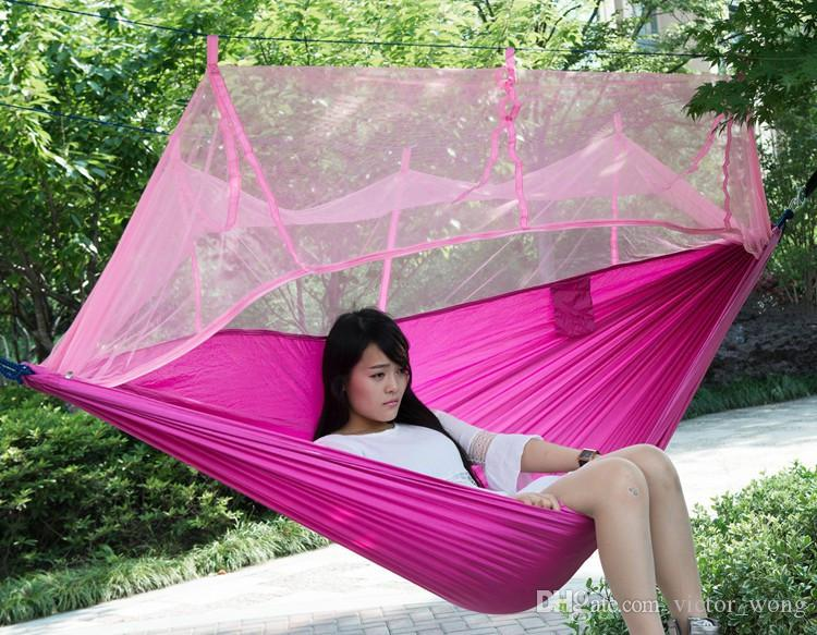 Automatic Opening Tent 2 Person Easy Carry Quick Hammock with Bed Nets Summer Outdoors Air Tents Fast Shipping