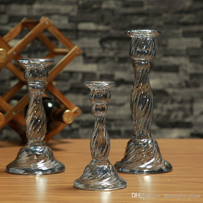 Set of 2 Hurricane Glass Candle Holders Set Special Design, Ideal For Weddings, Party Favor, Gifts