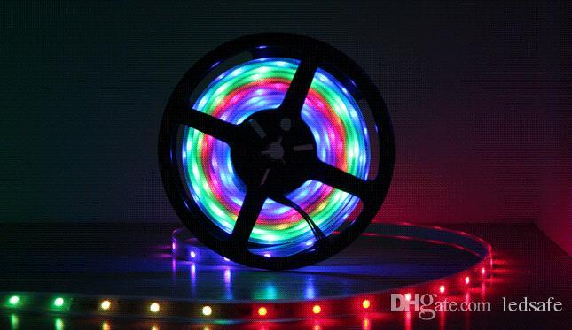 5 m 10 m 20 m 30 m LED tira mágica color de sueño SMD 5050 RGB tiras de cinta para exterior a prueba de agua IP67 133 programas + IC6803 controlador remoto RF