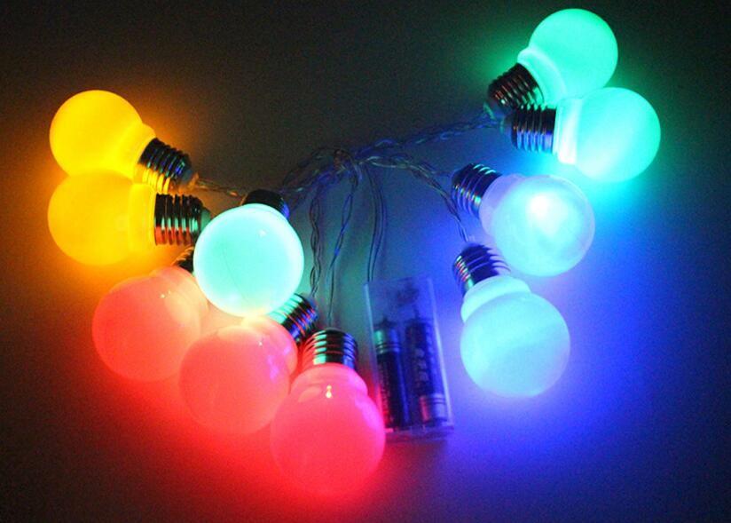 battery pack 20 Led G45 Bulb String Lights Globe Led Light String for Fence Patio Yard Garden Christmas Decorations