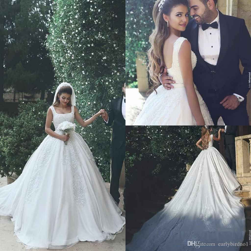 Discount 2017 New Arabic Custom Made Wedding Dresses