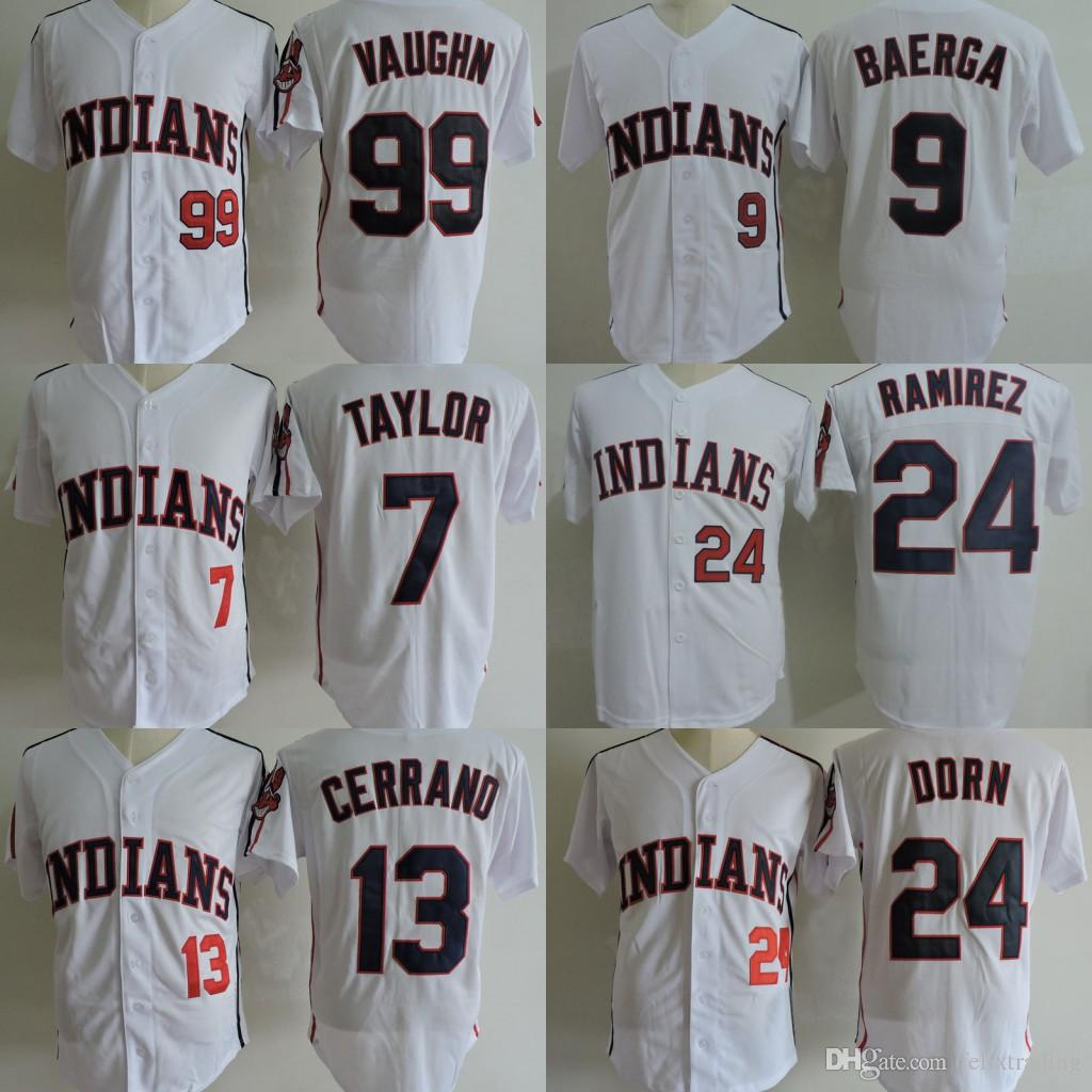 best cheap f095d b5099 mlb jerseys cleveland indians 13 pedro cerrano navy blue jerseys