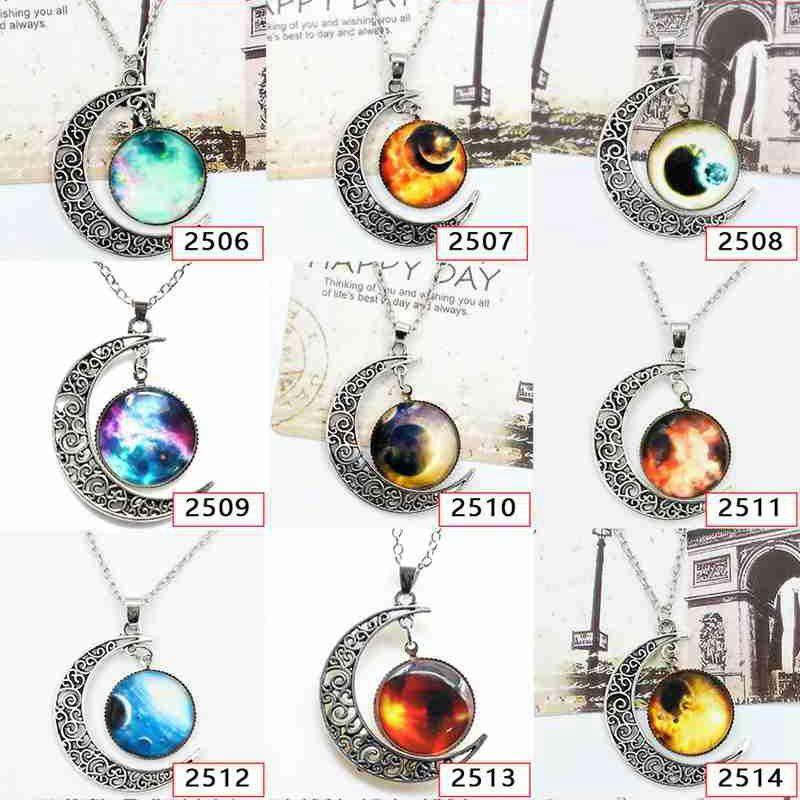 Starry Moon Time Gemstone Necklace Star through the Universe Outside ... 5fc8261d7ccf