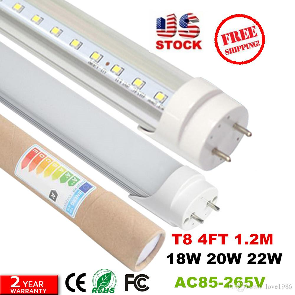 T8 Led Tubes 4ft 12m 1200mm Tube Bulbs Lights Super Bright 22w Light Wiring Diagram 28w Ac110 277v Circuit From Love1986