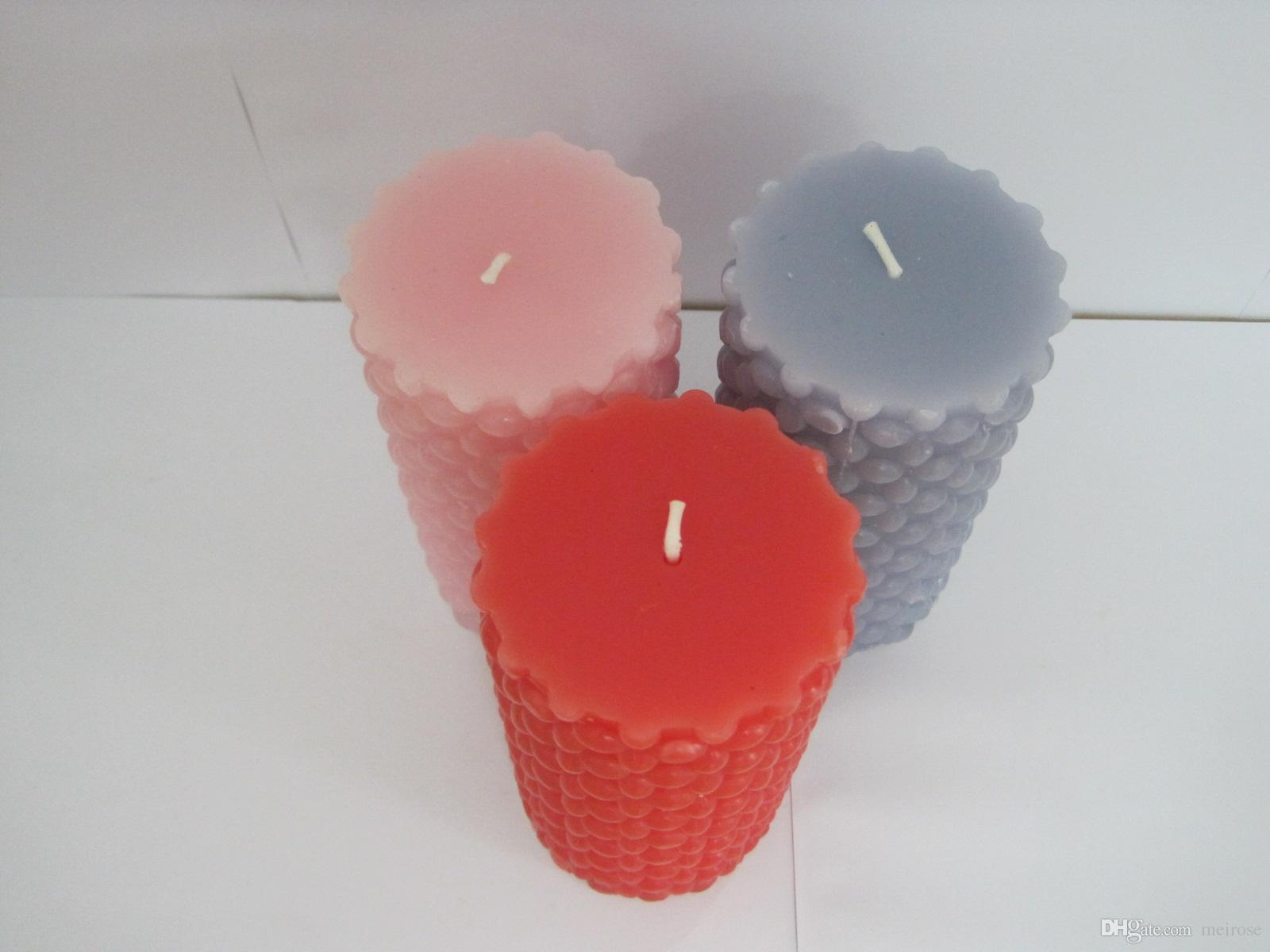 50-55 Hours Scented Candles Pillar Candle With A Variety Of Fragrance,Aroma Paraffin Wax Aromatherapy Embossed Candles Product Code:75-1008