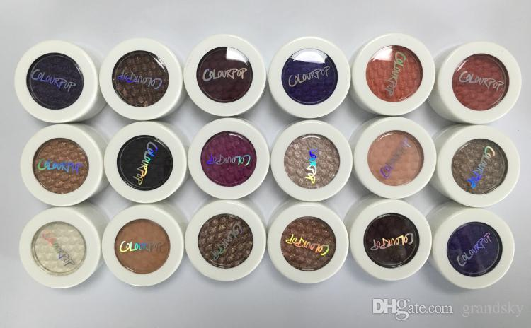 El más nuevo color de maquillaje pop Colourpop Blush Single Colourpop Eyeshadow Powder durable impermeable alta perlescente cosméticos envío gratis