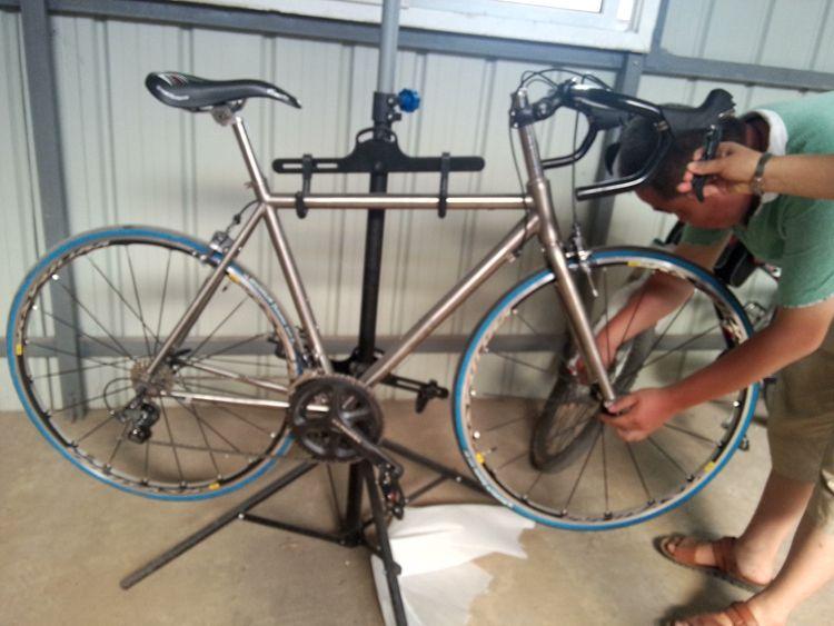 Bmx Titanium Bike Frame C Brake Disc Brake Internal Cable Touring ...