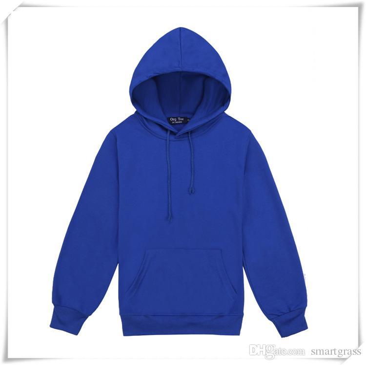 Männer Baumwolle Hooded Blank Pullover Sweatshirt Hoody Langarm Mantel Jacke Beiläufige Plain Hoodies Drop Shipping
