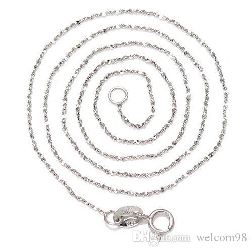 925 Sterling Silver Necklace Chain For DIY Craft Jewelry Gift 16inch WY023*
