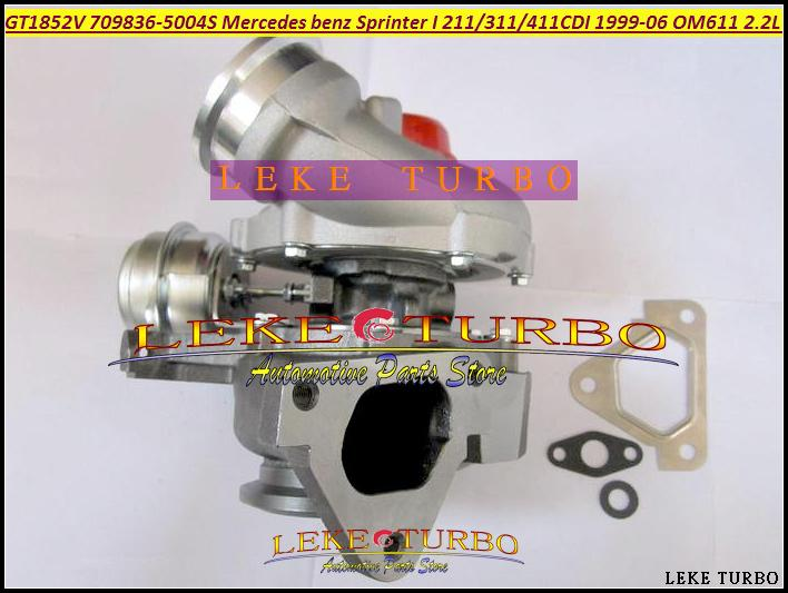 GT1852V 709836-5004S 709836 A6110960899 Turbocharger Turbo For Mercedes benz Sprinter I Van 211CDI 311CDI 411CDI 1999-06 OM611 2.2L 141HP (2)