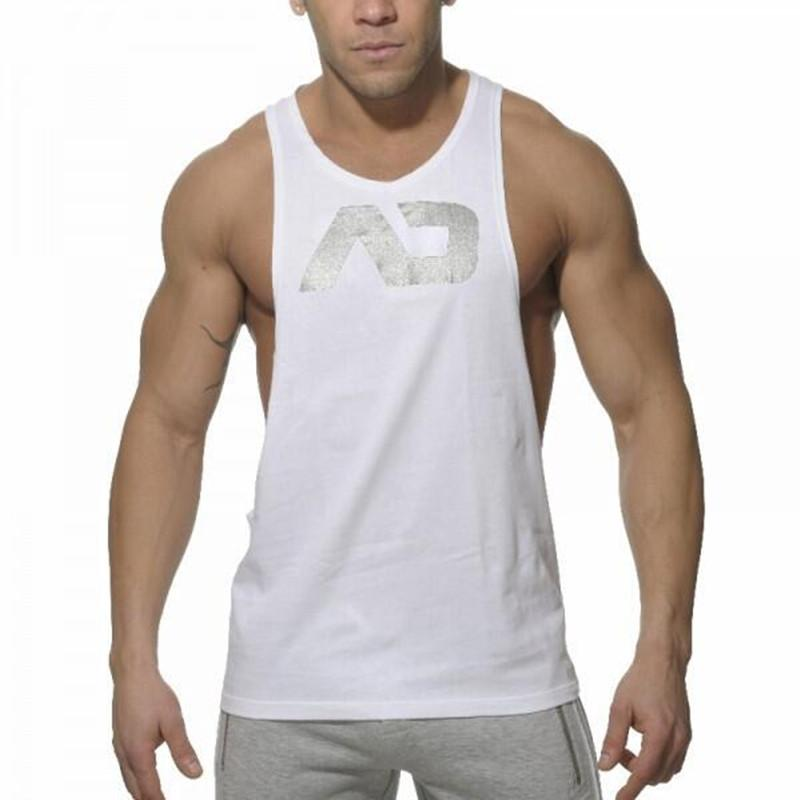 f7e6897e215aa 2019 Gym Singlets Mens Sports Vest Mens Bodybuilding Tank Tops Men Gym  Stringer Tank Top Sports Clothes Eleven Colors Sleeveless Shirt Men Fitnes  From ...