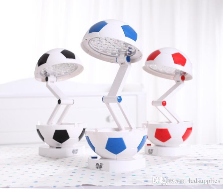Student energy saving folding football eye care desk lamp bedroom dorm table light
