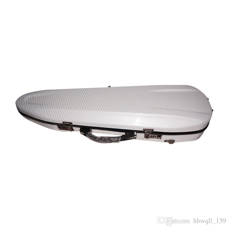 Latest 4/4 white composite carbon fiber violin case super pressure