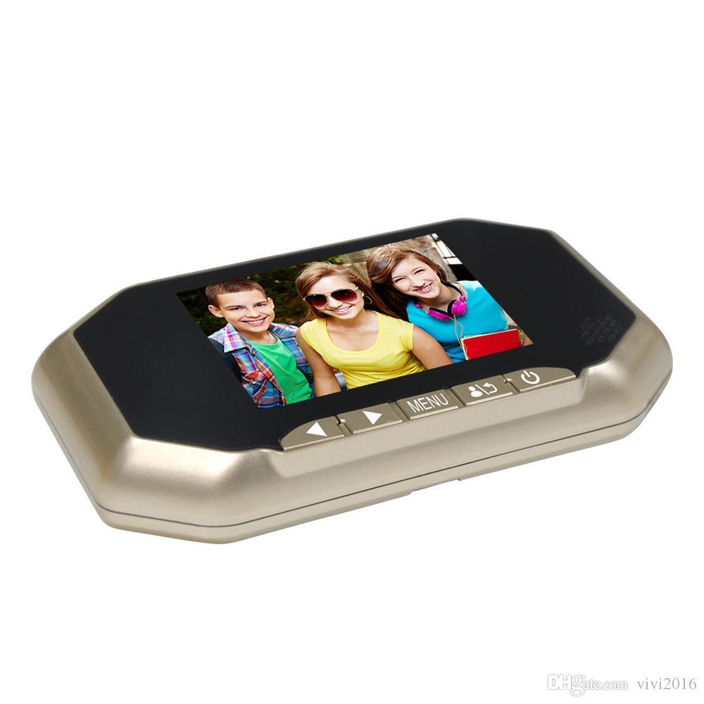 3.5 Inç LCD Monitör Video Kapı Bell Kamera Ev Güvenlik 160 derece Dijital Kapı Görüntüleyici Peephole Kapı Zili PIR 16 GB SD Kart Kayıt