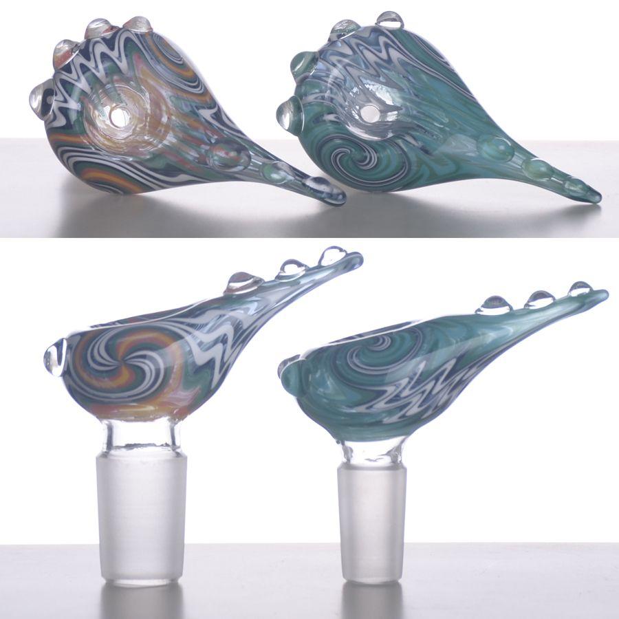 Реверсирование цвет стеклянные чаши для бонги хвост ручка чаша с 14,5 мм или 18,8 мм мужской сустав BestGlass T02