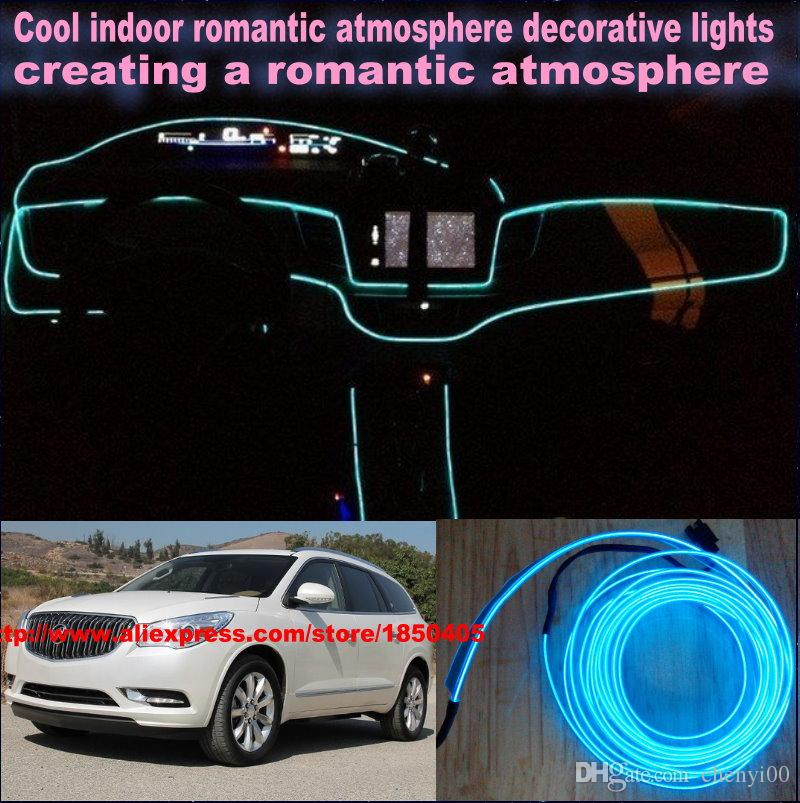 For Buick Enclave / LaCrosse / DIY 9 Meters 12V Car Light, LED Interior  Lights, Car LED Lamp Romantic Light Cold EL Lamps Car Ambient Light