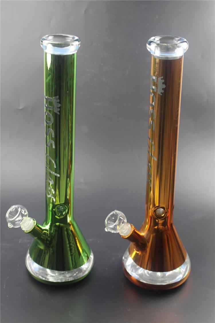 7 مم سميكة الزجاج مستقيم بونغ 45 سم بونس المشتركة سوبر أنابيب المياه الثقيلة 18.8 مم أسفل وأسفل