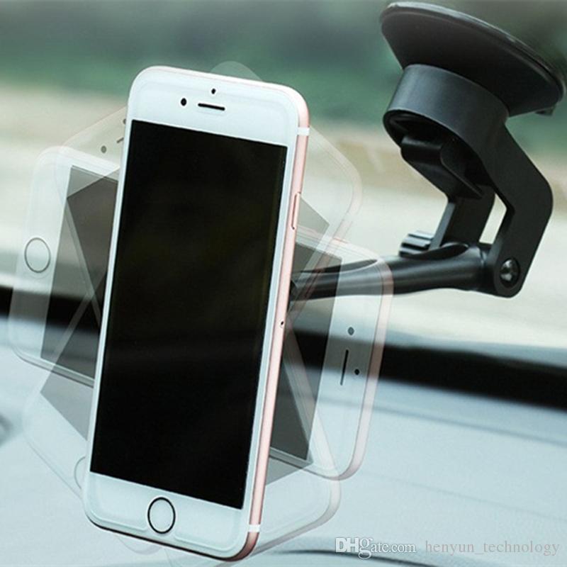 Support magnétique universel de téléphone de voiture de rotation de 360 degrés pour le tableau de bord / pare-brise / pare-brise de voiture-Styling