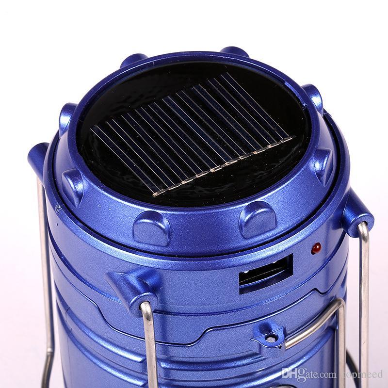 vacanze Nuovo pannello solare portatile Lanterna mano ha condotto la luce di campeggio 16LED lampada chiara luminosa luci appese Luci esterne solari della lampada escursionismo
