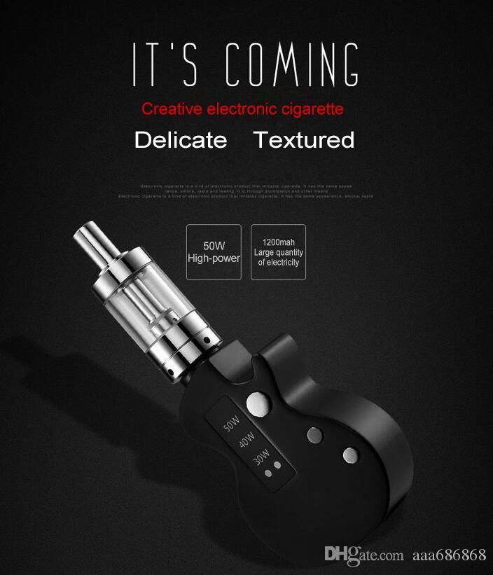 set di sigarette elettroniche chitarra vapore fumo 50 W penna vape kit 1200mah batteria ecig atomizzatore instock Vendita calda e di alta qualità