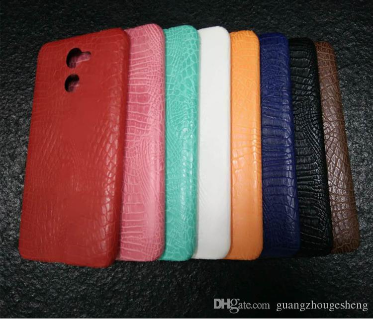 Cáscara del teléfono del cuero de la PU del grano del cocodrilo de lujo para Huawei Y7 Prime Accesorios Caja de los teléfonos móviles contraportada