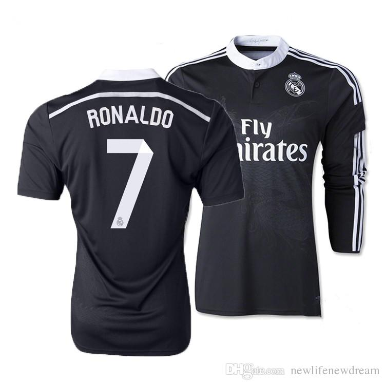 5c36422012b 2019 Top Thai Quality 2014 Black Dragon Real Madrid Soccer Jersey Long  Sleeve From Newlifenewdream, $16.25 | DHgate.Com