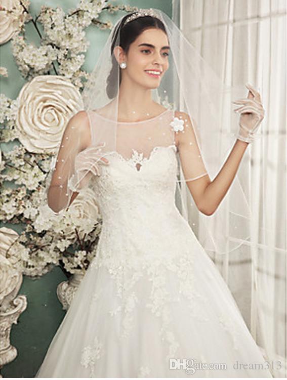 Новый Лучший высококачественный романтический удивительный элегантный роскошный роскошный локоть длина линии края вуаль жемчужина свадебные кусочки сплава расческа для свадебных платьев