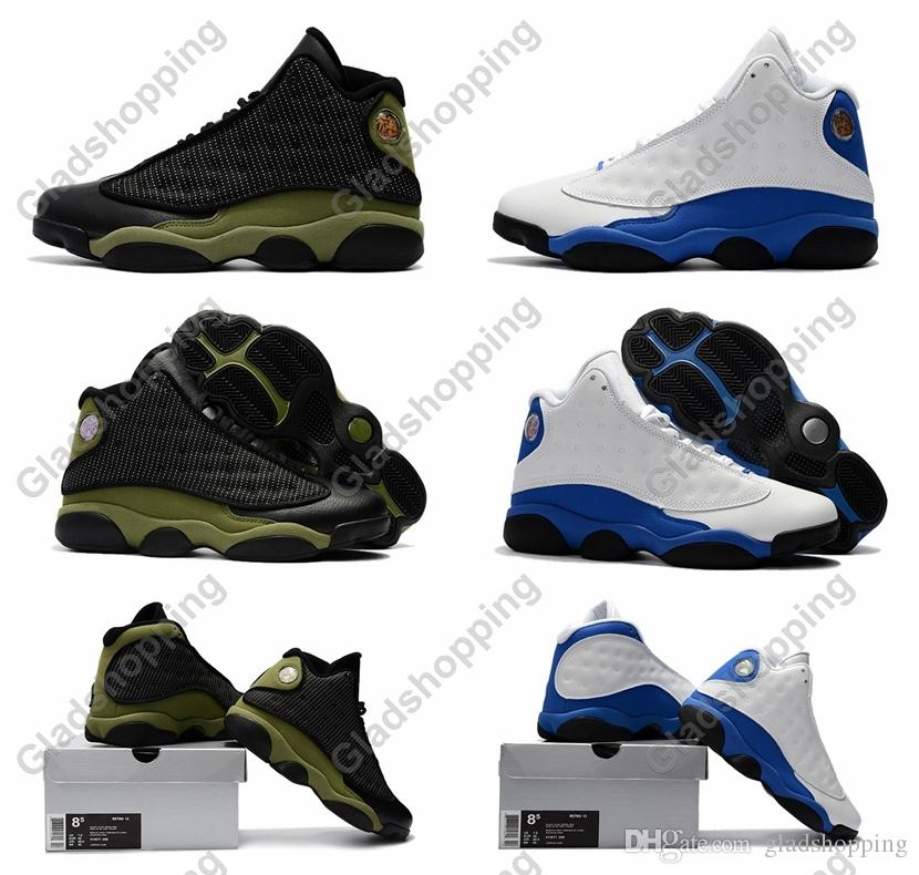 New 13 Olive Hyper Royal 2018 Release Men Basketball Shoes Sneakers Cheap  13s Basket Ball Shoes Sport High Quality With Box Baseball Shoes Basketball  Shoes ... 19854d023