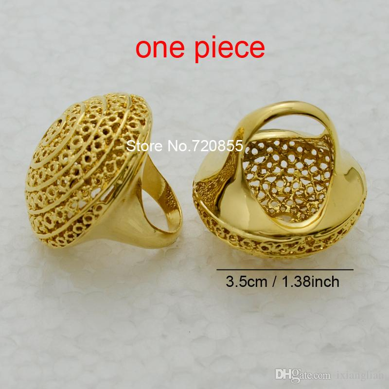 Big Ethiopian Ring Women 22k Gold Plated Eretrian Rings Girl ...