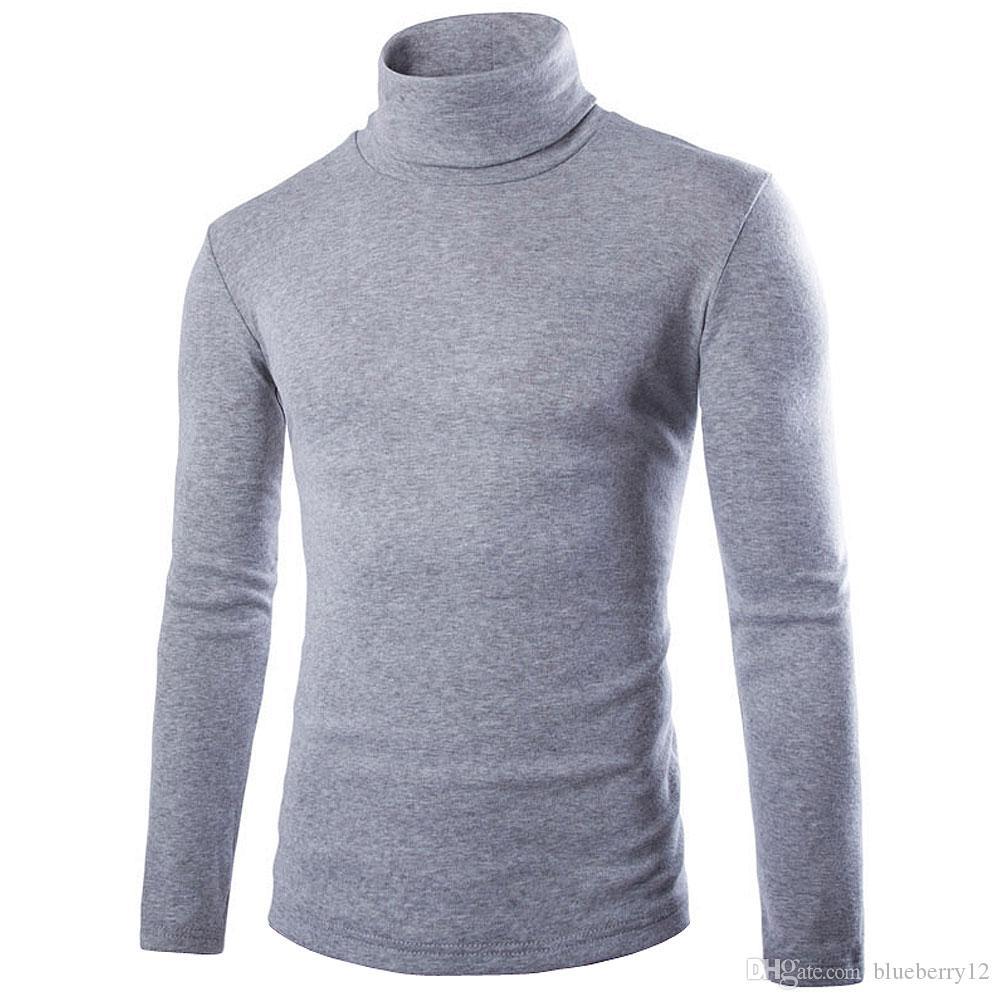 Мужская зима высокий воротник вязание рубашки Мужские ярусные толстовки мужчины флис твердые толстовки мода высокий балахон дополнительные длинные