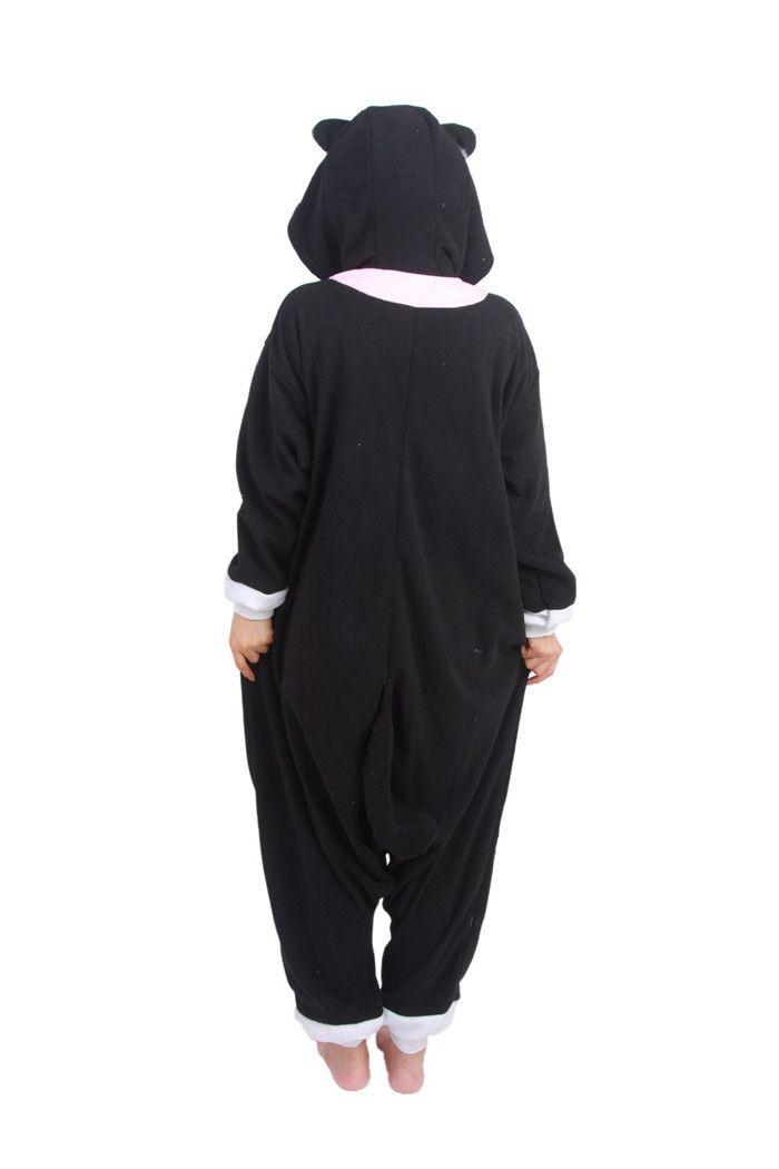 SS New Design Pyjamas Adult Animal Onesie Cute Black Cat Pajamas Sleepsuit For Unisex jumpsuit