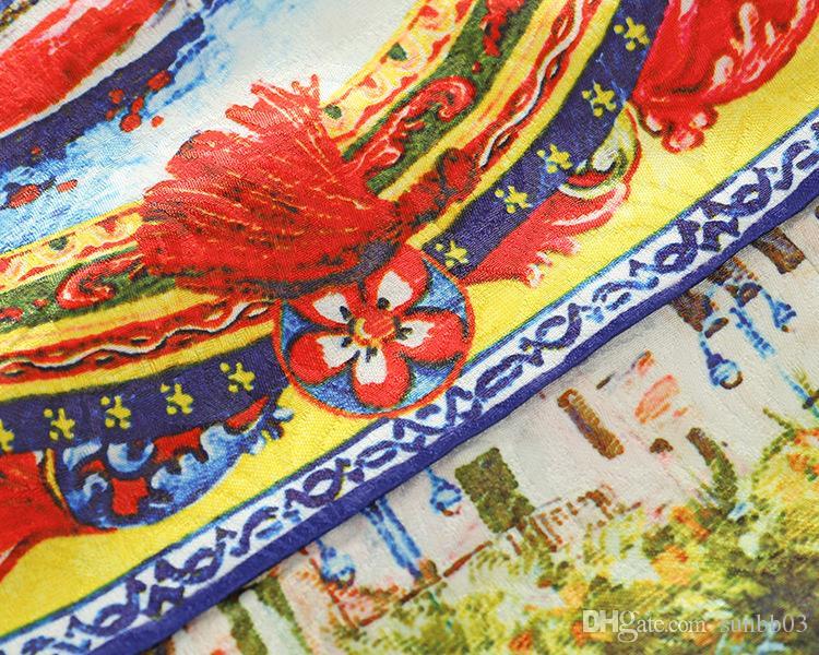 Été Europe Mode Filles Vintage Dress Enfants Bateau Imprimé Beauté Princesse Dress Enfants Tops Décontractés Court Party Dresses