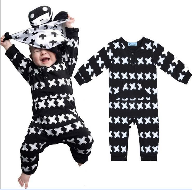 091e25390 2016 Baby Bobo Choses Spring Fall Rompers Infant Long Sleeve Cross ...