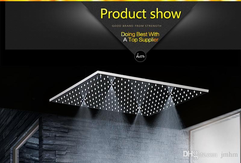 Insieme della doccia di pioggia del soffitto di 500 * 500mm, testa di doccia della foschia dell'acciaio inossidabile con i getti di massaggio del corpo da 2 pollici, insieme del rubinetto della doccia del bagno
