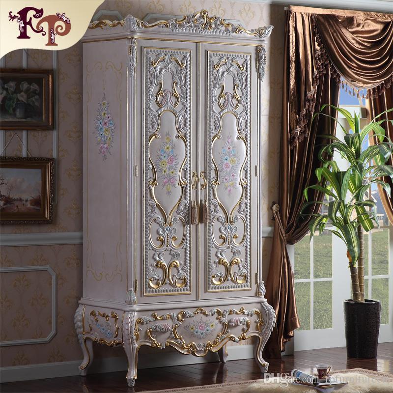 купить оптом роскошная королевская вилла мебель барочный гардероб