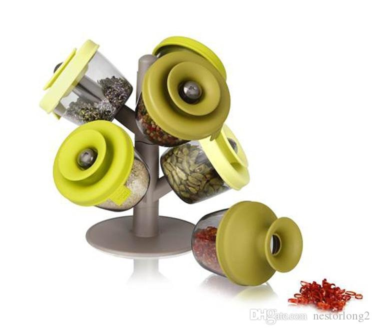 favourite Spice & Pepper Shakers cooking tools potes cans six piece suit tree seasoning sealed tank spray box