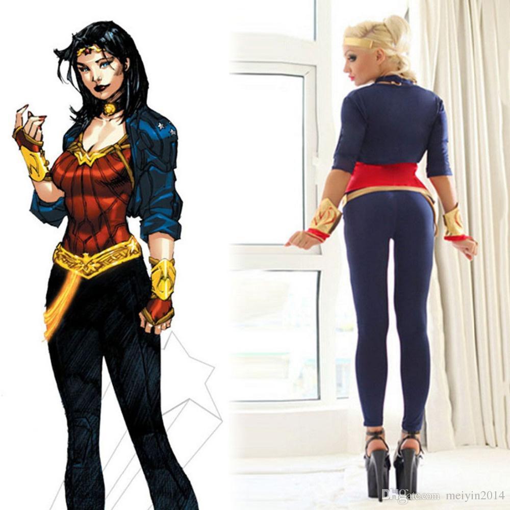 Бэтмен против Супермена Чудо-Женщина костюм Диана Принц косплей DC супергерой серии сексуальные женщины Хэллоуин костюмы для женщин
